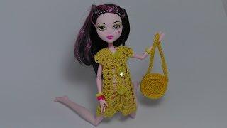 Сумка для куклы Монстр Хай. Как вязать сумку. Урок вязания для начинающих. Monster High.