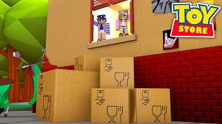 Minecraft TOYS - LITTLE KELLY IS LEAVING THE TOY STORE FOREVER !!!  w/ Sharky