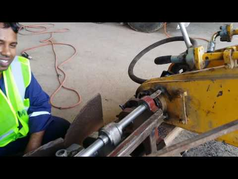 Stick line boring for axcavator