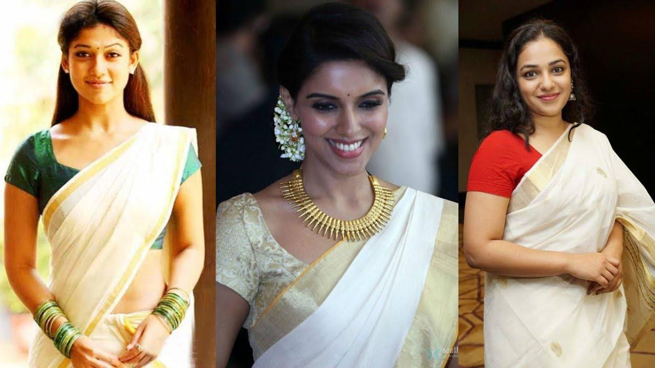 how to wear set mundu in malayalam