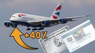Amex Points Now Transfer to Three Airlines at 40% Extra (British Airways +2 More)