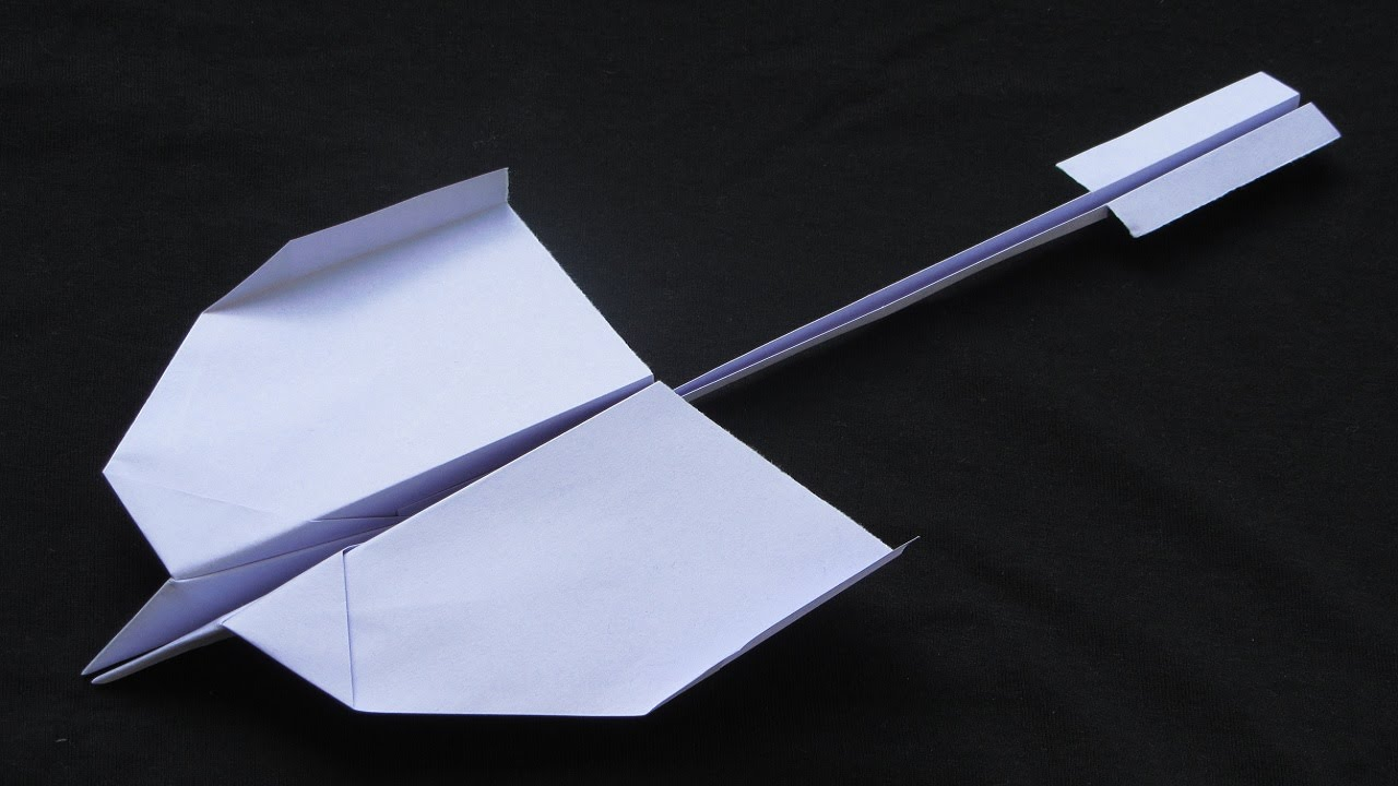 how to make a paper jet that flies far and fast step by step