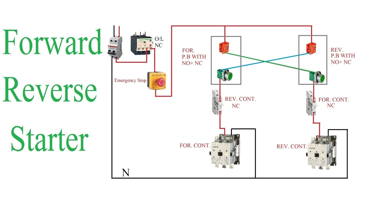 Forward reverse starter working principle reverse for Forward reverse dc motor control circuit