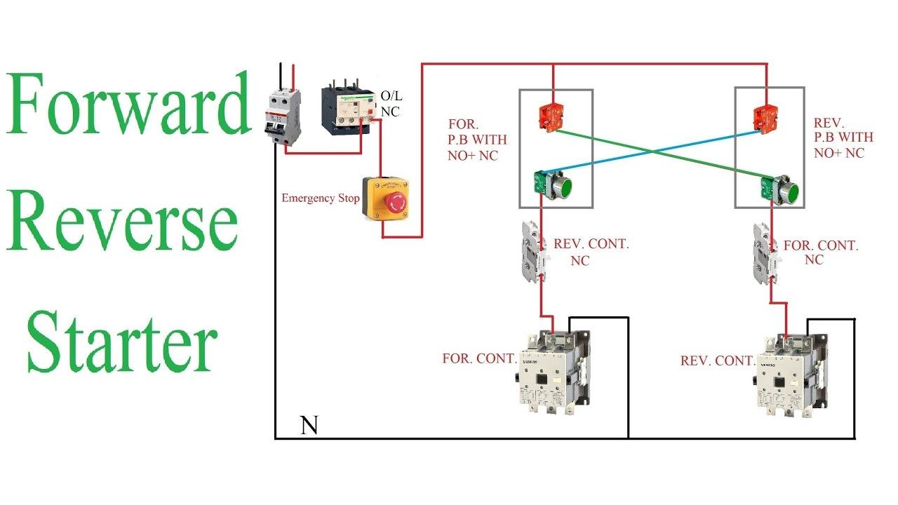 Single Phase Motor Starter Circuit Diagram