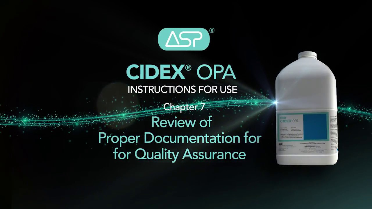 Cidex Opa In Service Video Youtube