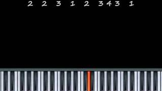 How to play Ode To Joy on Piano - Music By Numbers Piano Lesson