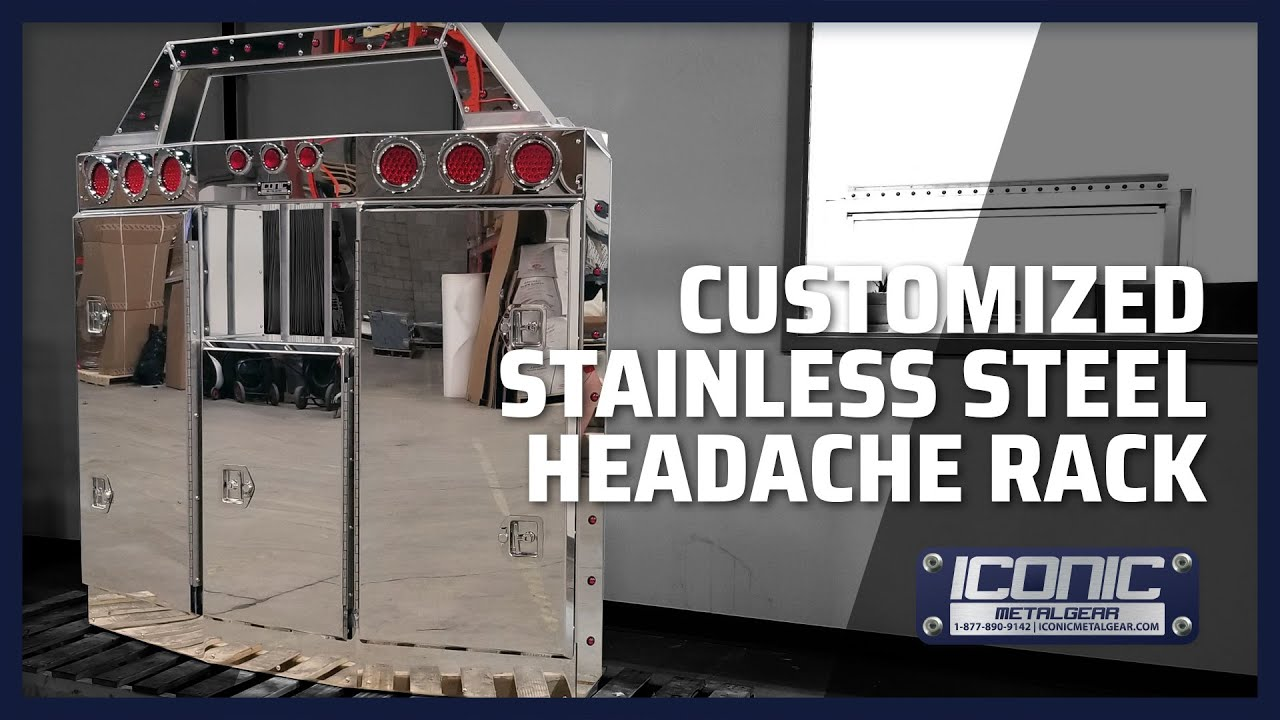 product tour custom stainless steel headache rack for semi trucks