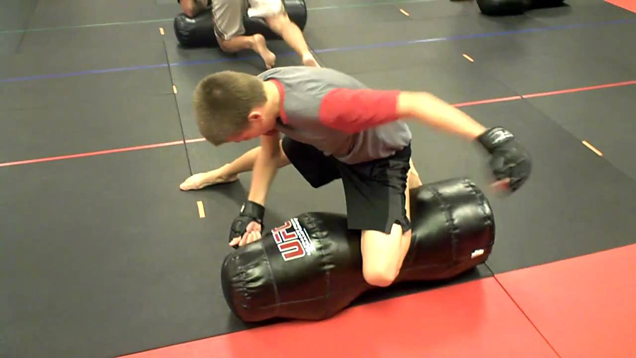 Ground And Pound Drills On Grling Dummy At Epic Martial Arts