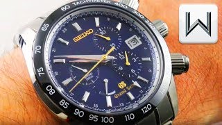 Grand Seiko Spring Drive Chronograph GMT 55th Anniversary SBGC013 Black Ceramic Luxury Watch Review