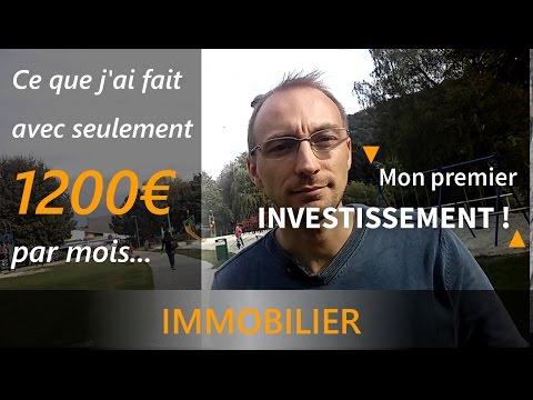 Faire un investissement immobilier avec 1200€ par mois