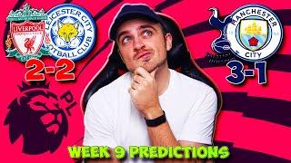PREMIER LEAGUE 2020/21 WEEK 9 PREDICTIONS!
