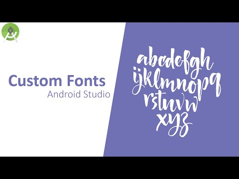Add Custom Font In Android Studio - Tutorial