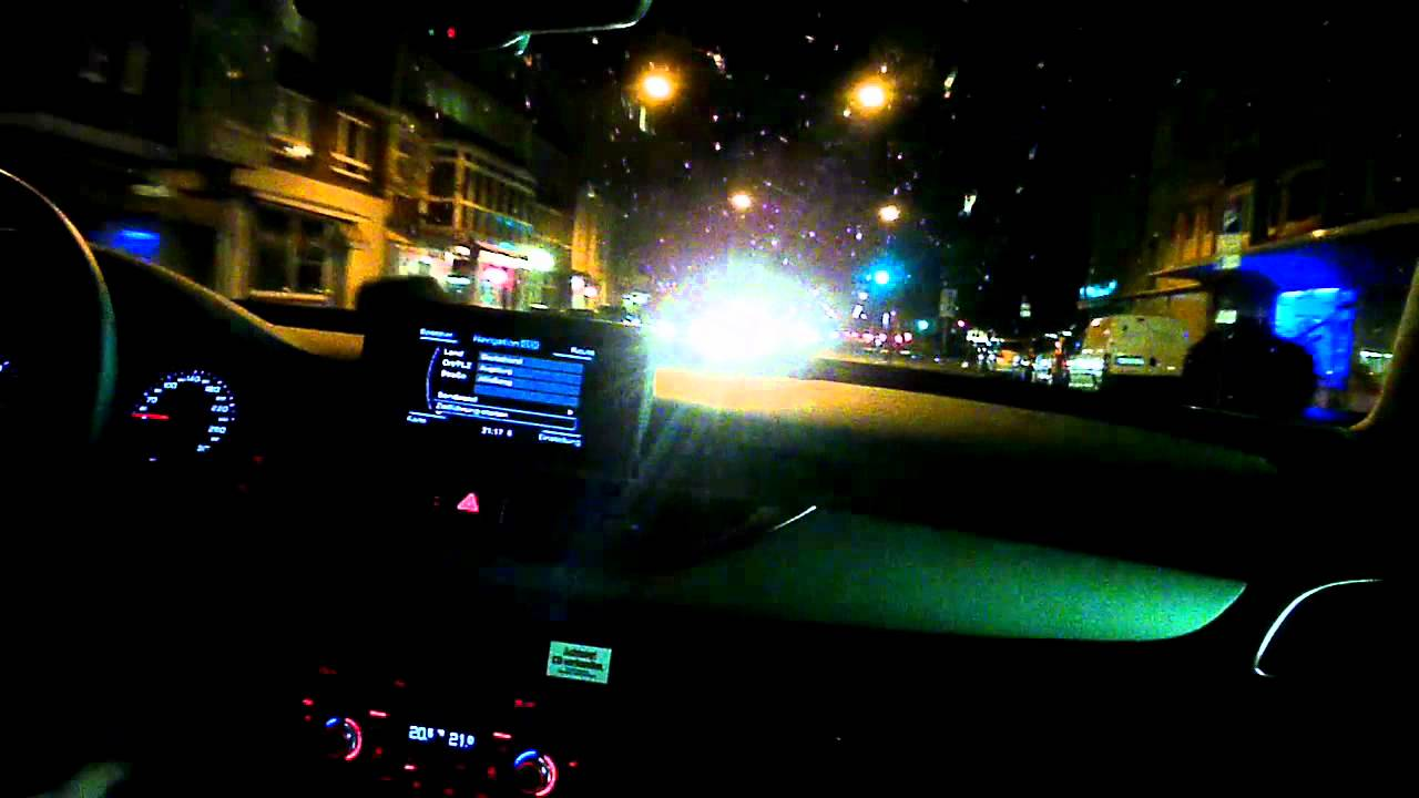 Audi A6 3 0 Tdi 2011 Model Night Drive Through Town Youtube