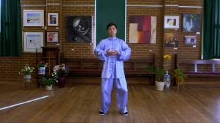 Ba Duan Jin Qi Gong Demonstration (Front View with Instructions)