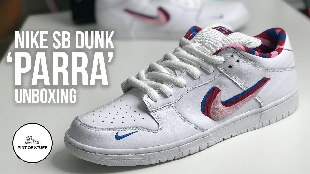 BOOM!! Nike SB Dunk Low 'Parra' Sneaker Unboxing