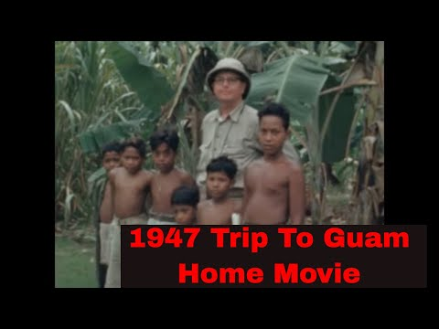 1947 HOME MOVIE    FLYING TRIP TO GUAM & KWAJALEIN  MARSHALL ISLANDS BY PBY CATALINA SEAPLANE  58464