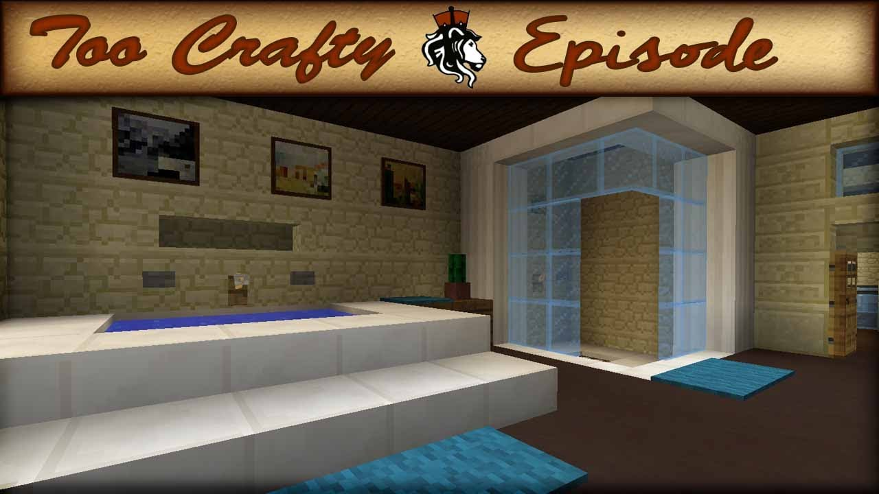 Minecraft bathroom design too crafty 16 youtube for Bathroom designs minecraft