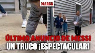 El espectacular truco de Messi en su último anuncio: cuchara, hielo y un balón I MARCA
