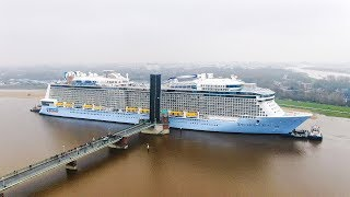 Launch of cruise ship Spectrum of the Seas | Meyer Werft Papenburg