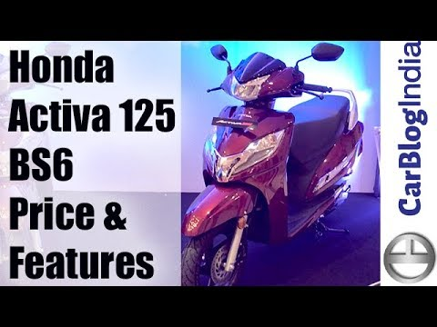 2019 Honda Activa 125 BS6 Scooter Price, Features And Variants