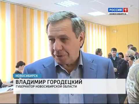 Губернатор Новосибирской области пришел на выборы