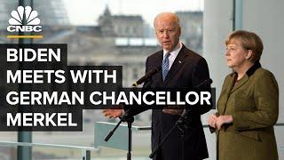 President Biden meets with German Chancellor Angela Merkel — 7/15/21