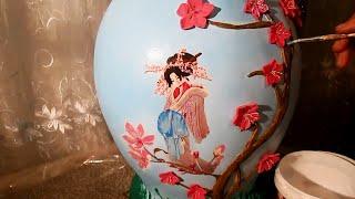 Напольная ваза своими руками в Японском стиле. Мастер класс (часть 2)