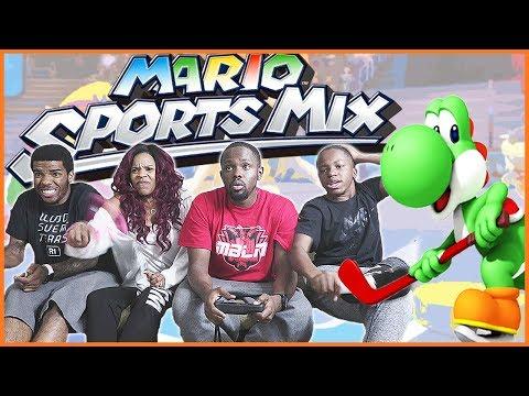 CRAZY COIN COMEBACK!! - Mario Sports Mix Hockey Wii U Gameplay