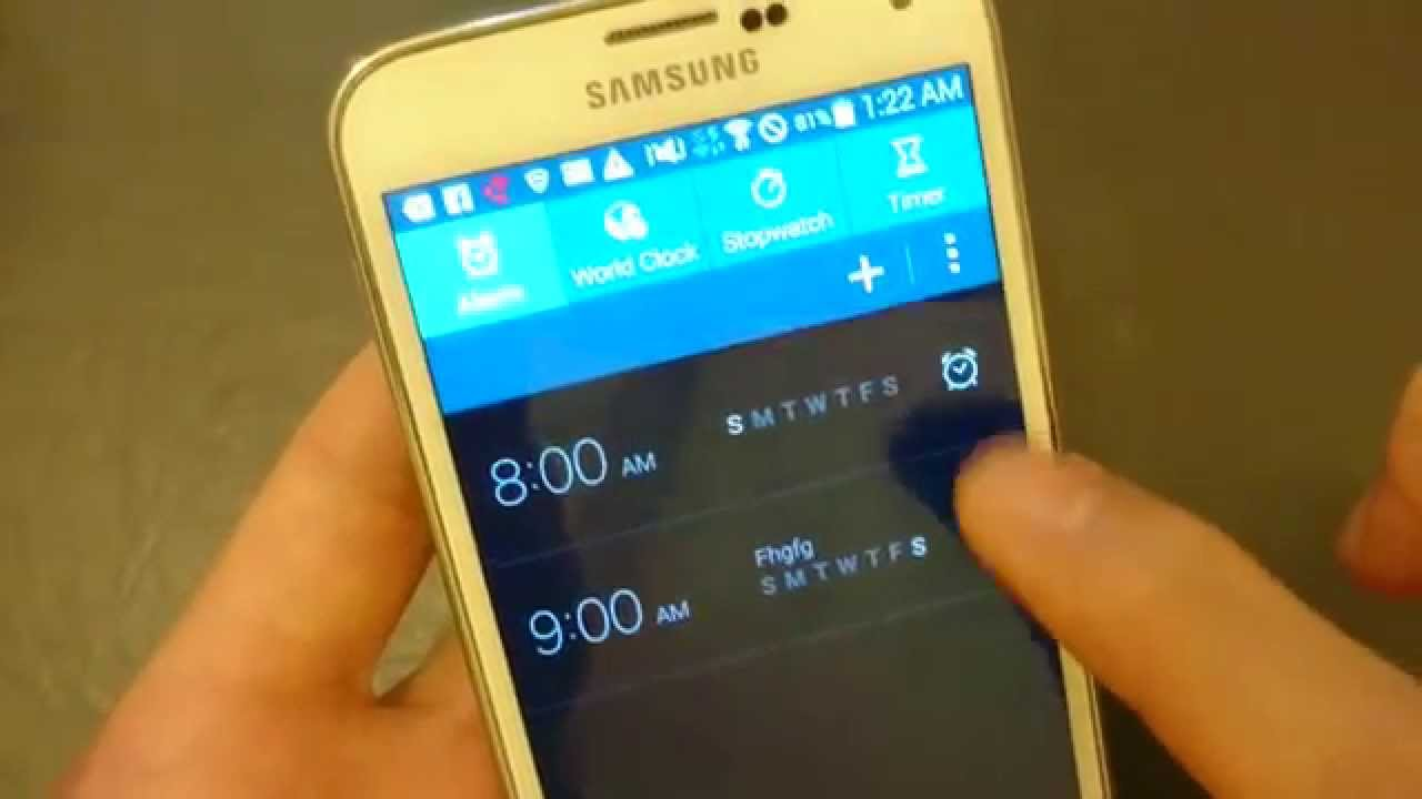 Galaxy S5: How to Set Alarm Clock w Options Overview