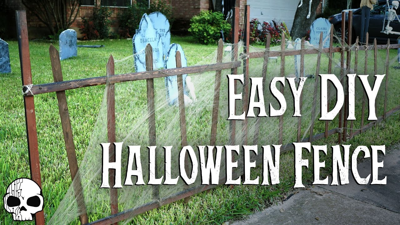 DIY Halloween Props SUPER EASY Cemetery Fence