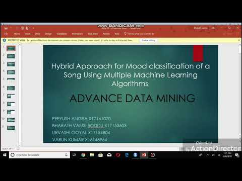 Hybrid approach for mood classification of song using multiple machine learning algorithms