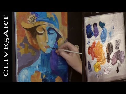 CUBIST Acrylic painting for beginners, Acrylic painting,cliv