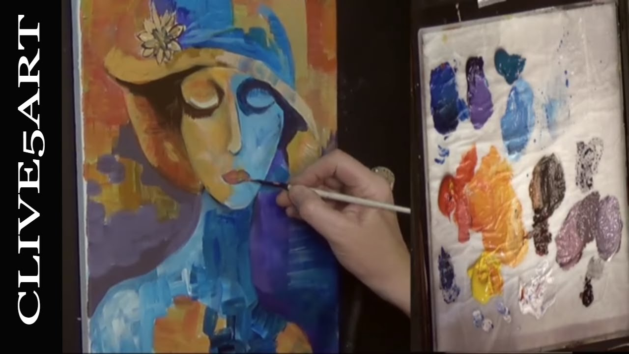 Cubist Acrylic Painting For Beginners Acrylic Painting