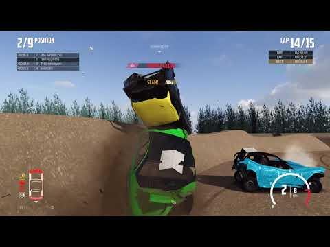 Wreckfest Online Banger Mod Crash Compilation 1