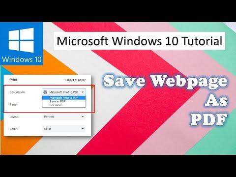 Save Webpages As PDF File In Internet Explorer | Microsoft Windows 10 Tutorial