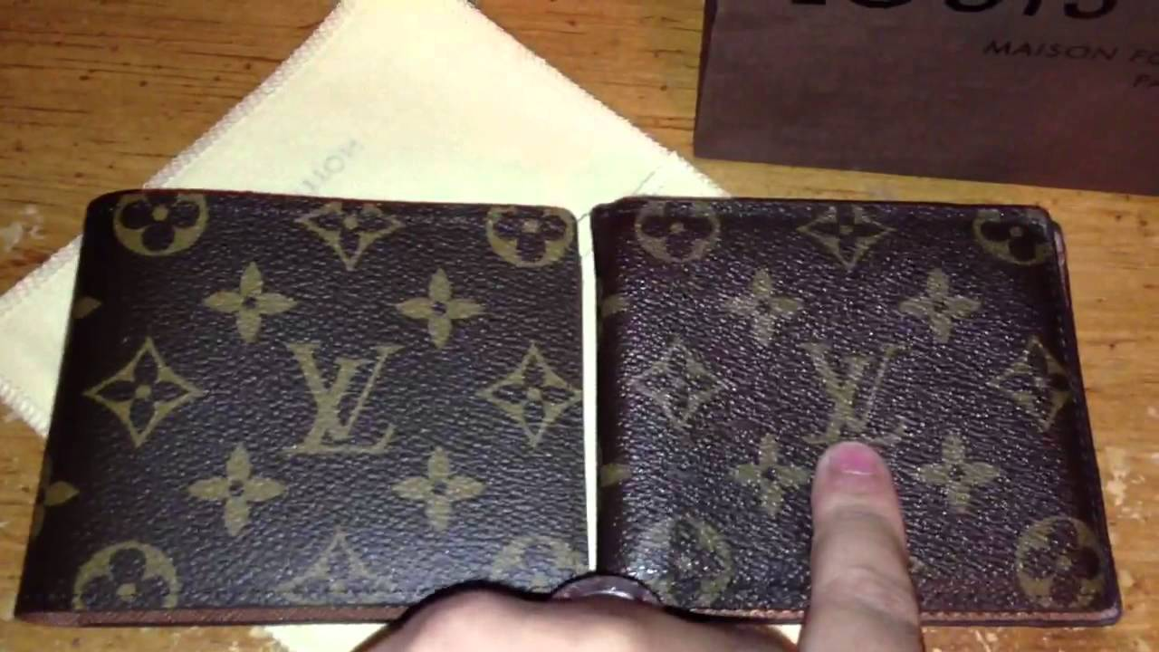 46448b3d109c4 Louis Vuitton Real vs Fake men s wallet - YouTube