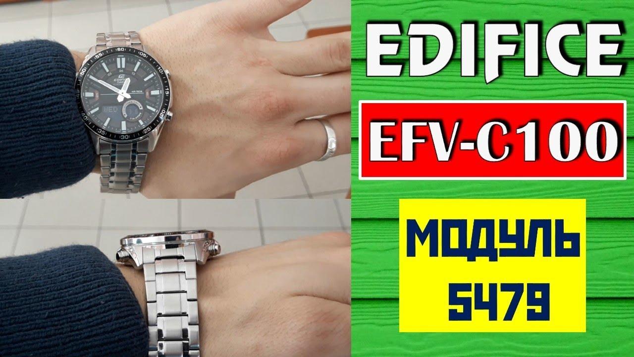Casio Edifice Efv C100d 1a Efv C100d 2a Efv C100d 1b Efv C100l 1a Modul 5479 Youtube