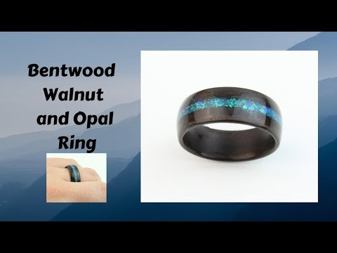 How it's made - BentWood Ring - walnut with Opal inlay