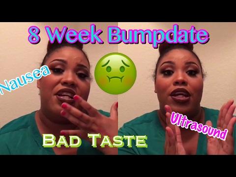 Bad Taste, Nausea, Ultrasound | 8 Week BUMPDATE | Pregnant After Miscarriage 🌈👶🏽