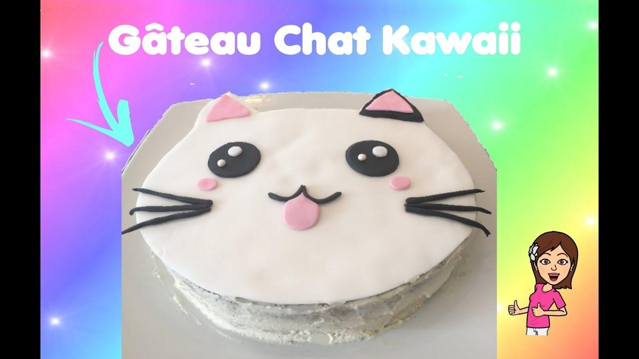 Gateau Chat Kawaii Diy Kawaii Cat Cake Youtube