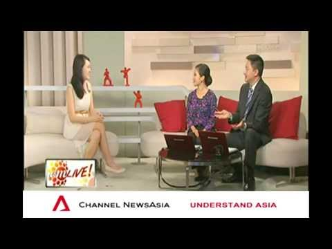 Celestine Chua on Channel News Asia, AM LIVE! - How to Make New Year Resolutions Stick (Jan 6, 2014)