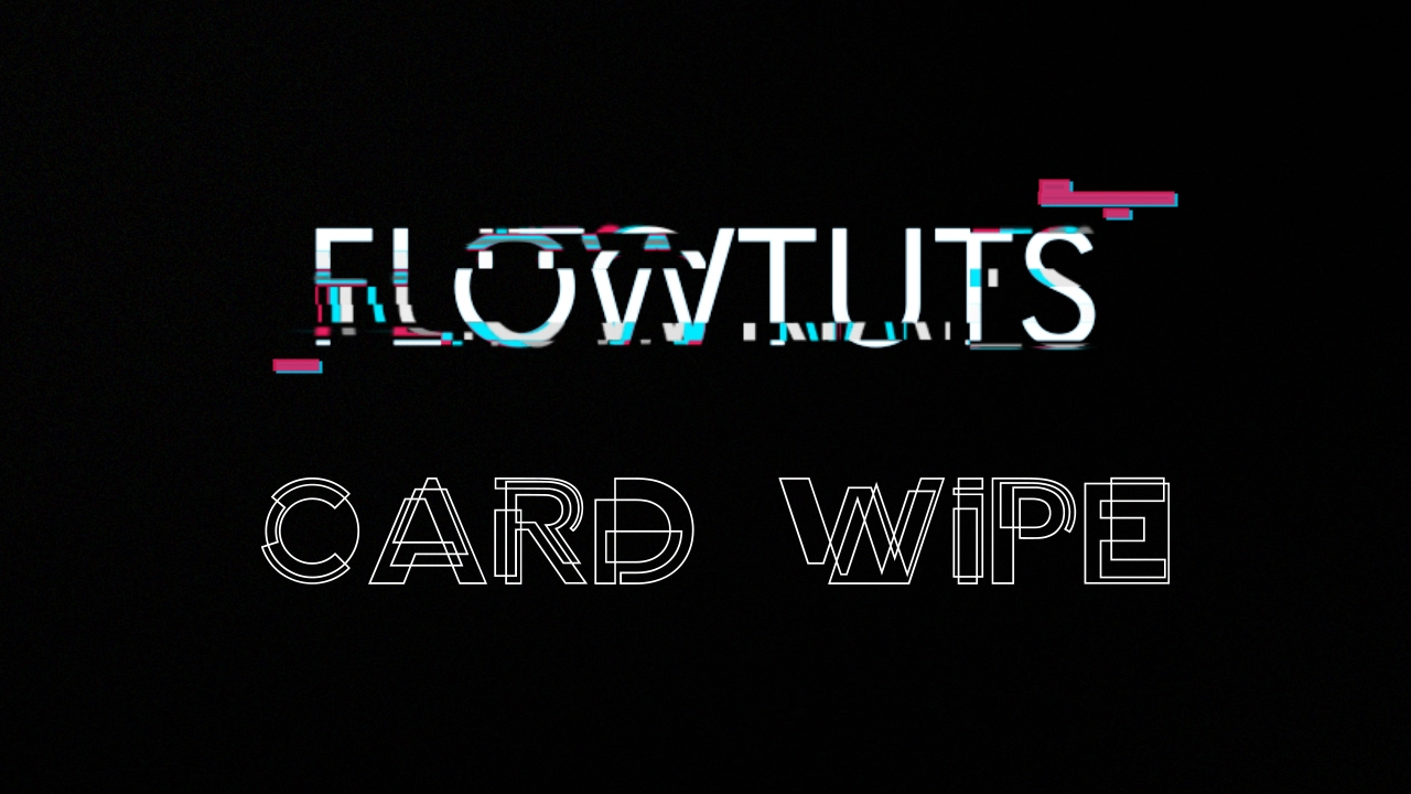 Card Wipe Transition In After Effects | After Effects Tutorial 2017
