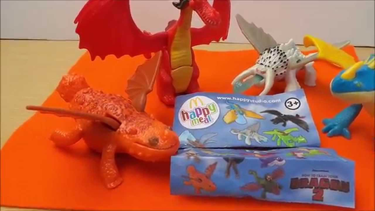 Mcdonalds Happy Meal Toys How To Train Your Dragon 2 Uk Surprise Openings Youtube