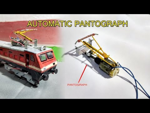 How To Make a Automatic Pantograph | Model Train | Miniature Vehicle India