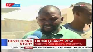 Residents of Likoni are worried about the continued quarrying activity in the area