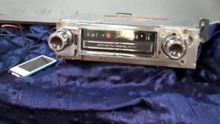 1965 Chevy G10 Van original AM radio