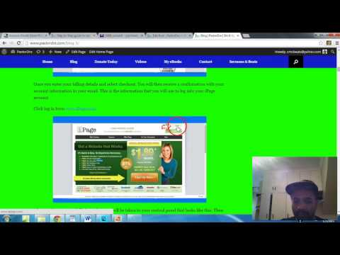 How to make a website with WordPress using iPage with webcam