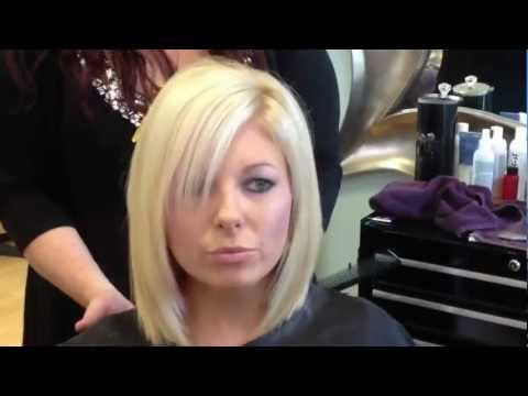 Blonde layered bob haircut