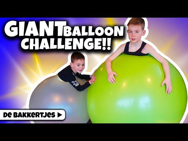 MET ONS HELE LICHAAM IN EEN BALLON!! 🎈 [Giant balloon challenge] - DE BAKKERTJES #188