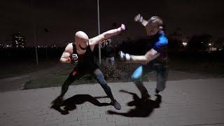 Бой закончился уличной дракой / Артур Лысый против Бойца из Морга